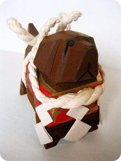 VINTAGE JAPANESE HandCrafted Wooden Dog Figurine by TokyoVintage26, $12.50