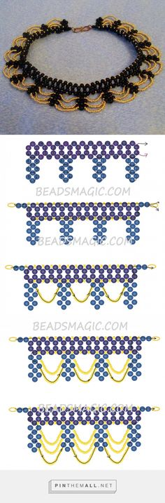 Free pattern for necklace Opera | Beads Magic... - a grouped images picture - Pin Them All