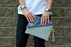 Country pillow clutch made from donated fabrics. @UnshatteredNY