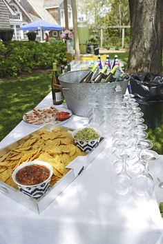 Summer entertaining- note the chip and dip tray.