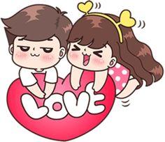It's so cute >. Wedding Couple Cartoon, Love Cartoon Couple, Cute Cartoon Pictures, Cute Love Cartoons, Anime Love Couple, Cute Anime Pics, Cute Chibi Couple, Cute Couple Comics, Cute Love Gif