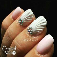 Sea shell nails                                                       …
