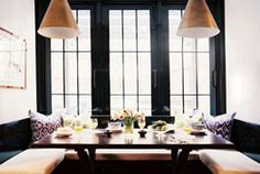 Dining spaces by Lonny