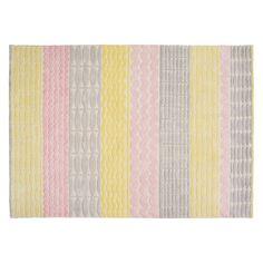 MANAMI Large multi-coloured wool rug 170 x 240cm