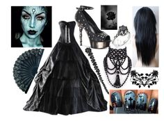 """The Enchantress"" by lunaofthemoon ❤ liked on Polyvore featuring Simone Rocha, EBANO and Demonia"
