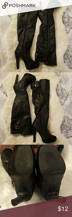 Boots Used but in good condition Material Girl Shoes Heeled Boots