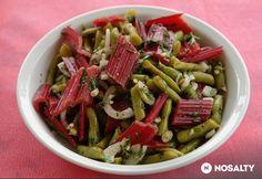 Mángoldszár-saláta zölbabbal, hagymával   NOSALTY Green Beans, Ale, Vegetables, Food, Vegetable Recipes, Eten, Ales, Veggie Food, Meals