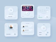 Skeuomorphism / Neumorphism UI Trend is a term most often used in graphical user interface design to describe interface objects that mimic their real-world. Web Design Trends, App Ui Design, User Interface Design, Flat Design, Mobile Ui, Layout, Template Web, Ui Design Inspiration, Creative Inspiration