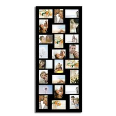 adeco black wood wall hanging collage photo picture frames holds twenty four inch photoshome decor wall artgreat gift wedding gifts library