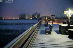 Snow on the OBX! 1/13