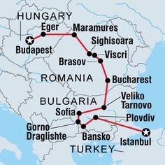 Itinerary for Eastern Europe Sighisoara romania Brasov Bucharest Veliko tarnovo bulgaria Sofia Istanbul