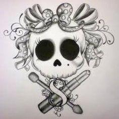 Skull and bow tattoo. love this idea Future Tattoos, Love Tattoos, Beautiful Tattoos, Tatoos, Rosary Tattoos, Crown Tattoos, Bracelet Tattoos, Key Tattoos, Heart Tattoos