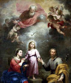 Holy+Family,+Holy+Trinity+~+by+Murillo