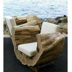 Awesome Outside Seating Ideas You Can Make with Recycled Items ♂ The Organic living Eco Friendly Reclaimed Wood Seating Furniture Design, Cocoon Chair by .♂ The Organic living Eco Friendly Reclaimed Wood Seating Furniture Design, Cocoon Chair by . Log Furniture, Living Furniture, Unique Furniture, Furniture Design, Outdoor Furniture, Garden Furniture, Furniture Ideas, Recycled Furniture, Tree Stump Furniture