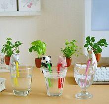 Projeto Animal bonito Escritório Plantas de Mesa Vaso de Flores Vasos de Plantas de Água Automático Para Home Office Decoração de Natal Presentes de Aniversário(China (Mainland))