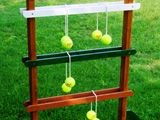 """""""Decorate the Tree"""" paint the stand green and the balls like ornaments.  How to Build a Ladder Golf Game : How-To : DIY Network"""