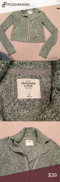 Abercrombie & Fitch sweater jacket Abercrombie & Fitch knit sweater jacket, a little cropped. Size medium. Abercrombie & Fitch Sweaters