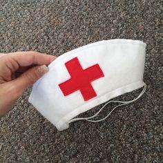 DIY Felt Nurse Hat