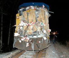 CSX Train Wreck | ... the CSX engine that was northbound near Madras Monday night, March 2