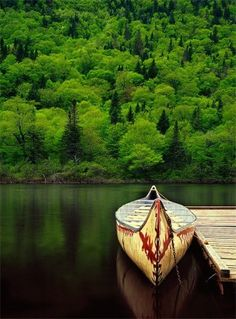 Amazing shot of a canoe
