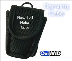 OxiMD Black Carrying Case for Fingertip Oximeter includes Lanyard by OxiPulse Medical Corporation. $6.99. Lighweight, and portable, black nylon fingertip pulse oximeter carrying case is great for people on the go! Carrying/travel case also helps to protect the screen. Compliments all of our fingertip pulse oximeters and makes a great gift! *Fits most fingertip oximeters*