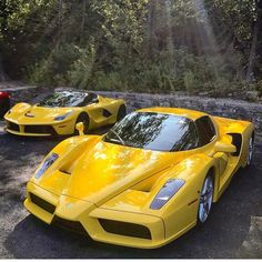 Ferrari Enzo with LaFerrari #ferrarienzo