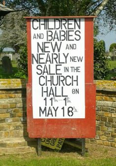 You really do find everything at church sales these days...
