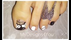 Black & White Hearts Toenail Art Design | Pedicure Tutorial ♥ White Toenail Designs, Nail Designs Toenails, Pedicure Designs, Toe Nail Designs, Toe Nail Art, Toe Nails, White Toenails, Nails Design With Rhinestones, Black And White Heart
