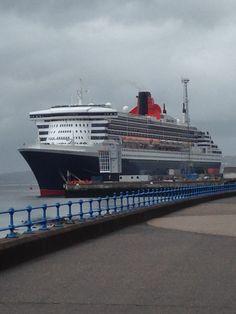 Queen Mary 2 Queen Mary, Cruise Ships, Boats, Ocean, Train, Ships, Sea, The Ocean