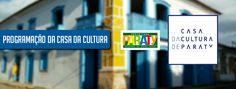 Acontece na Semana   3 a 8 junho  Toda programação da Casa da Cultura de Paraty é gratuita.  Casa da Cultura Paraty  Rua Dona Geralda, 177   Centro Histórico  Terça a domingo, 10h às 22h  Informações: (24) 3371-2325  facebook.com/casadaculturaparaty  #PousadaDoCareca #Paraty #CasaDaCultura #exposição #arte #fotografia #música #cultura #educação #turismo