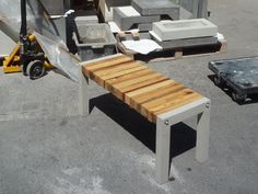 essences bench 1 Essence Bench in wood furniture  with Wood Upcycled stool Furniture Bench