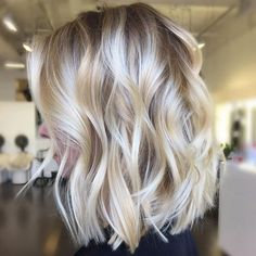 Platinum Blonde Short Balayage