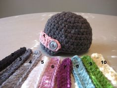 Great idea - makes one hat work for boys and girls!
