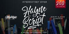 Illusions Vinyl Fence Cool Typeface & Font Ideas: Hayne Script
