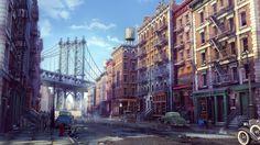 ArtStation - New York in the 30-s, Aleksey Borisov