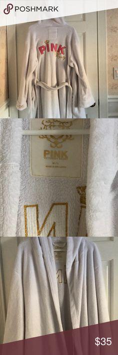 PINK Bathrobe PINK bathrobe size M/L with detailed back. PINK Intimates & Sleepwear Robes