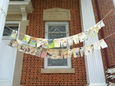 The Prayer Flag Project: Unbleached muslin, with fabric pastels