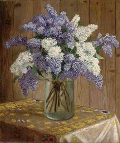 Lilacs in a Glass Vase  Cross stitch pattern pdf format by diana70, $6.50