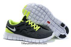 Nike Free Runs 2 Size 46 Black Anthracite White Volt $62.19
