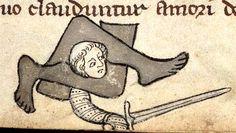 Между ног... Crushed between legs (@BeineckeLibrary, MS. 404, c. 1300)