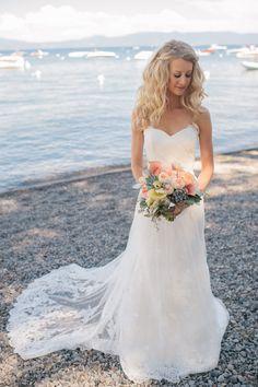 Photography: Rachelle Derouin Photography - www.rachellederouin.comRead More: http://www.stylemepretty.com/california-weddings/2014/04/21/elegant-outdoor-wedding-in-lake-tahoe/