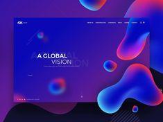 Envizion Digital - Web Design Trends of 2018 Page Design, Ui Design, Layout Design, Design Trends 2018, Graphic Design Trends, Mobiles Webdesign, Science Web, Webdesign Layouts, Desing Inspiration