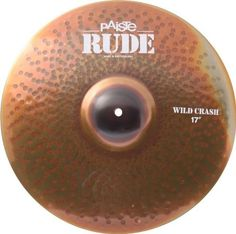 """Paiste Rude Wild Crash Cymbal 17"""" by Paiste. $239.32. The Rude Wild Crash Cymbal is a strong and loud crash for aggressive playing styles in noisy and extreme musical genres. This cymbal has a very responsive cymbal feel. It's well-suited for crash/ride patterns with a very energetic and powerful, metallic, hissing sound character. Narrow in range and has a fairly clean mix."""