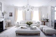 Another glammed up white living room