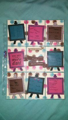 Pocket letter cadeau pour la maitresse de ma numéro 2 qui est en cm2 !