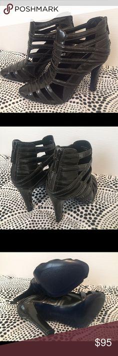 "Rebecca Minkoff Heels Color: Slate/ Gunmetal. Round toe patent leather with 4.5"" heel. Brand new, never worn. Rebecca Minkoff Shoes Heels"