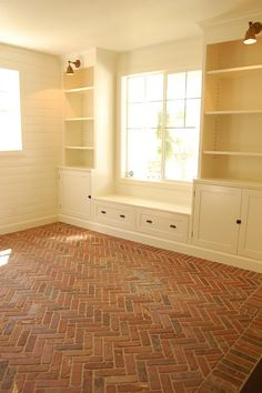 Not sure where I want this but I would LOVE to have brick floors somewhere in my house.