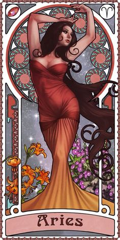 Zodiac Art Show - Aries by giorgiobaroni on deviantART. Pretty cool redition of Aries don't you think? Arte Aries, Aries Art, Zodiac Signs Aries, Sagittarius And Capricorn, Zodiac Art, Astrology Zodiac, Astrology Signs, Art Nouveau, Art Zodiaque