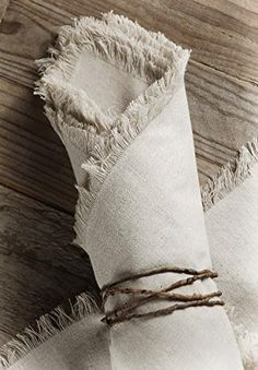 The Wabi Sabi Decor Trend and How to Integrate it Into Your Home - Linen Napkins With Fringe Linen Napkins, Cloth Napkins, Napkins Set, Rustic Napkins, Folding Napkins, Cheap Wedding Decorations, Rustic Wedding Centerpieces, Branch Centerpieces, Rustic Weddings