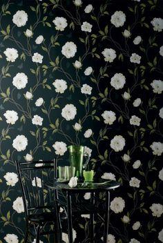 papier peint fleuri Nina Campbell Peony Place
